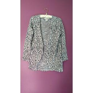 L.O.G.G. H&M Aztec open cardigan sweater 12-14Y